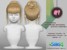HALLOW SIMS ANTO KERLI HAIR at Coupure Electrique • Sims 4 Updates