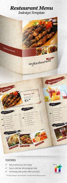 Restaurant Menu Template by antyalias.deviantart.com
