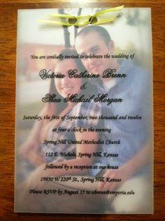 Personalized Photo Wedding Invitation Handmade by CraftsbyTori, $2.00