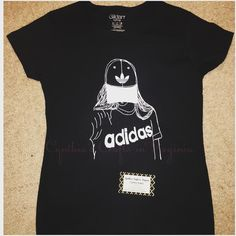 My daughter drew this picture...it looks awesome on a t-shirt  I can do the same with your drawings... #proudmom #adidas #drawing #customdesign #drawingpicture #vinyl #tshirt
