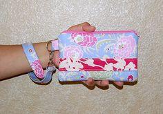 Gypsy Caravan and Pink Coriander   Wristlet Purse by RKEMdesigns, $14.50