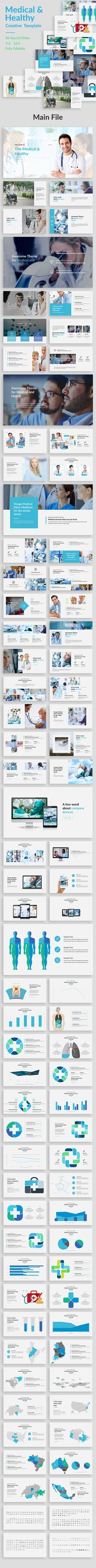 Buy Medical and Healthy Keynote Template by bluestack on GraphicRiver. Features: 86 unique slides Aspect Ratio no more broken images! Easy and fully editable in Keynote (shape color, . Powerpoint Tips, Professional Powerpoint Templates, Business Powerpoint Templates, Creative Powerpoint, Powerpoint Presentation Templates, Keynote Template, Keynote Presentation, Presentation Design, Keynote Design