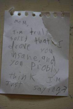 Poor mom..