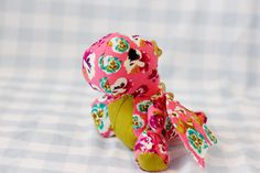 floral fire breathing dragon toy sewing pattern