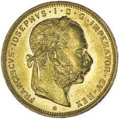 Franz Joseph I. 1848 - 1916 8 Gulden 1891 Gold
