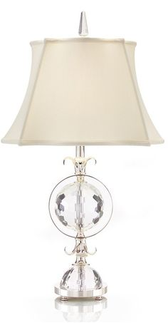 Table Lamps, Luxury Designer Classic Faceted Crystal Orb Lamp, so beautiful, one of over 3,000 limited production interior design inspirations inc, furniture, lighting, mirrors, tabletop accents and gift ideas to enjoy repin and share at InStyle Decor Beverly Hills Hollywood Luxury Home Decor enjoy & happy pinning