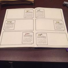 bujo, bullet journal, and future log image Bullet Journal Tracker Ideas, Future Log Bullet Journal, Planner Bullet Journal, Bullet Journal Page, Organization Bullet Journal, Bullet Journal Hacks, Bullet Journal Spread, My Journal, Journal Pages