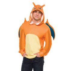 Pokemon Charizard Adult Costume Hoodie Standard for sale online Pikachu Costume, Pokemon Costumes, Adult Costumes, Halloween Costumes, Halloween Makeup, Halloween Crafts, Halloween Party, Kylo Ren Costumes, Superman Costumes