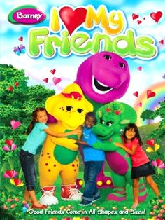 I am so sad to report that my boys are growing out of the Barney, Thomas & Friends, Angelina and Timmy Time videos. Barney & Friends, I Love My Friends, My Love, Pbs Kids, Kids Tv, Michaela Dietz, Barney Birthday, Friendship Songs, Julie Johnson