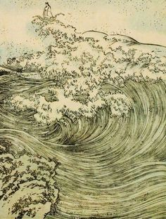 Dragon and Waves by Utagawa Kuniyoshi on Curiator – http://crtr.co/226d