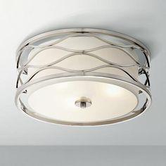 "Austen 16"" Wide Brushed Nickel Ceiling Light"