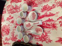 Johnson Bros. Old British Castles Transferware Spoon Rests, Coasters and Votive Candle Holders