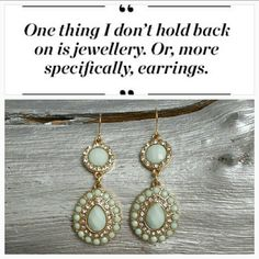 "Mingle n Mint earrings NWOT Brand New  Gorgeous dangling earring in a fabulous mint green color with rhinestones on a gold tone metal. Approx 2.5"" Hook earrings Hypo Allergenic Jewelry Earrings"