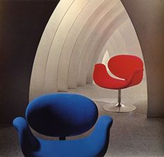 Tulip chairs by Pierre Paulin for Artifort