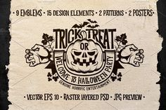 Halloween Logo Pack by DreamBikeShop on @creativemarket