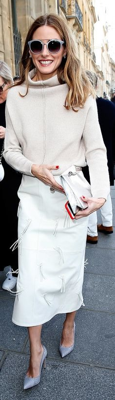 Olivia Palermo's fringe-embellished Tibi skirt.