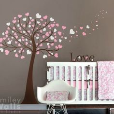Tree Wall Decals For Nursery | Love Tree - Nursery Wall Decal | Smileywalls - Children's on ArtFire