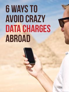 6 Ways to Avoid Crazy Data Charges Abroad Traveling is awesome; crazy overseas phone bills are not. Here's how to avoid excess data charges. Travel Info, Travel Advice, Time Travel, Places To Travel, Travel Destinations, Travel Hacks, Solo Travel, Budget Travel, Travel Ideas