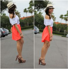 Look: NEON SKIRT - Daniela Ramirez - Trendtation
