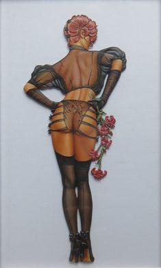 "Zinnfigur ""Model mit Lilie"" Detail"