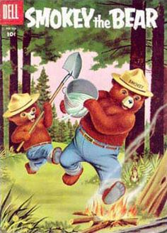 Smokey the Bear comic books Comic Books For Sale, Best Comic Books, Vintage Comic Books, Vintage Comics, Smokey The Bears, Nature Posters, Woodland Creatures, The Good Old Days, Comic Covers