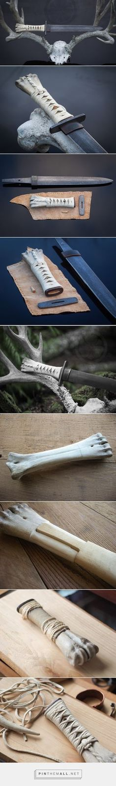 The Bone Dagger - Crossed Heart Forge by earnestine Cool Knives, Knives And Tools, Knives And Swords, Armas Ninja, Blacksmithing Knives, Maila, Swords And Daggers, Knife Handles, Arm Armor