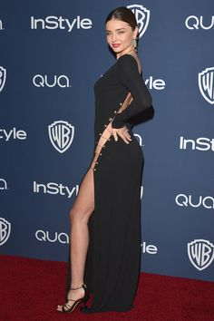 Yowza! Check out Miranda Kerr at the Golden Globes afterparty