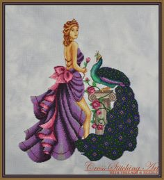 Eleni, The Beauty Of Troy is the counted cross stitch design stitched mostly with Mill Hill beads. DMC floss conversion is available as well. More details http://www.crossstitchingart.com/index.php?l=product_detail&p=50