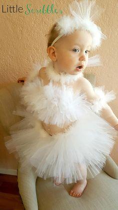 0ba5001c01 Ballerina Swan Tutu Toddler Costume . White Swan Halloween