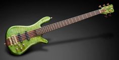 Warwick Streamer Stage I 5 Bleached Emeraude Green Transparent Satin Matched Headstock