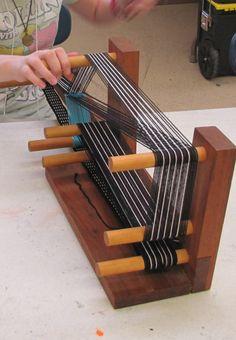 Weaving a belt on an Inkle loom taught by Marla Bailey.