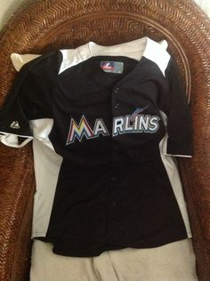4615e93f596 Majestic Miami florida marlins baseball jersey size L Men s