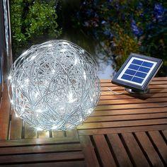 Outdoor decoratielamp LED solar alu draadbal veilig & makkelijk online bestellen op lampen24.nl