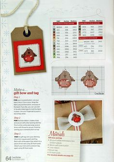 Build a snowman 6/6 Cross stitcher Magazine no: 260 December 2012 Free pattern and colorcode