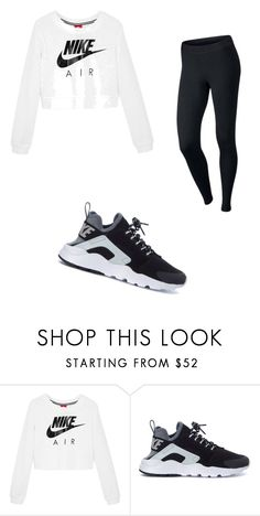 """Back to school outfit"" by taffarri ❤ liked on Polyvore featuring beauty and NIKE"