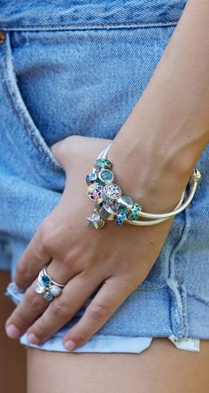 You know it's #summer when you stack all your boldest PANDORA bracelets, rings and charms. Ours are hand-finished in sterling silver.