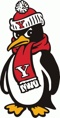 Youngstown State Penguins Mascot Logo - NCAA Division I