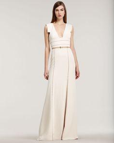 Simple silhouette - easily keeps as a cocktail dress, post wedding  Wedding-splurge-top-10-for-fall-2012-elie-saab-bridal-gown.original