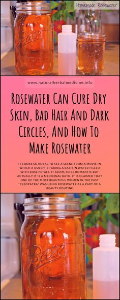 Rosewater Can Cure Dry Skin, Bad Hair And Dark Circles. (And How To Make Rosewater) – Care – Skin care , beauty ideas and skin care tips Making Rose Water, Dry Skin Remedies, Acne Remedies, Health Remedies, Natural Remedies, Normal Skin, Face Skin Care, Skin Cream, Bad Hair