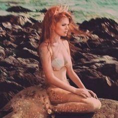 Ginger mermaid || redhead || beach || Ariel || real