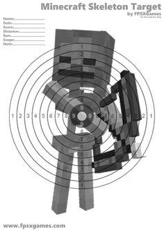 Printable Minecraft target