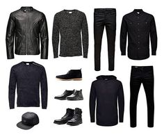 Let black be your preference when styling tone-in-tone.#jackandjonesme