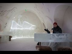 Snow Castle Hotel Tour & Ice Restaurant (Kemi, Finland) - YouTube