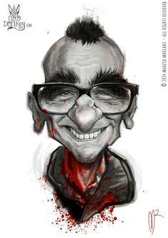Caricature of Martin Scorsese by Marzio Mariani #Celebrity_Caricatures #Oddonkey #martin_scorsese