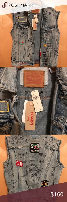 Anthro Levi's vest NWT size small vest from Anthro. Retailed for 248 Anthropologie Jackets & Coats Vests