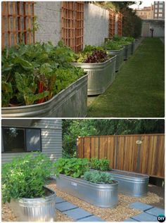 Gardening Ideas DIY Water Troughs Raised Garden DIY Raised Garden Bed Ideas Instructions - More than 20 DIY Raised Garden Bed Ideas Instructions [Free Plans] from Cinder block garden bed to wood garden bed and garden tower! Raised Herb Garden, Herb Garden Planter, Building A Raised Garden, Diy Garden Box, Metal Raised Garden Beds, Raised Gardens, Raised Garden Bed Design, Garden Troughs, Backyard Garden Design