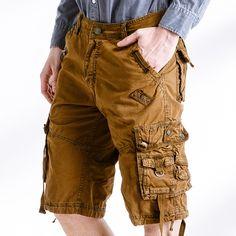 Encontrar Más Casual Pantalones cortos Información acerca de 2017 hombres  de verano del ejército de trabajo 544a031c76f