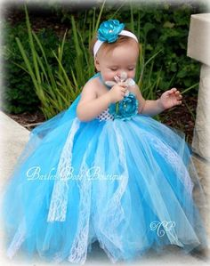 Turquoise tutu dress... possible flower girl! :) love this!!