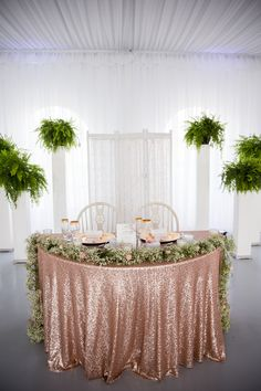 Rose Gold Wedding Decor Luxury Our Sweetheart Table Rose Gold Glitter Table Cloth with Rose Gold Table Cloth, Glitter Table Cloths, Rose Gold Vase, Rose Gold Glitter, Vintage Wedding Backdrop, Gold Wedding Decorations, Table Decorations, Diy Decoration, Centerpieces