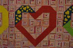 log cabin hearts by Luana Rubin, via Flickr